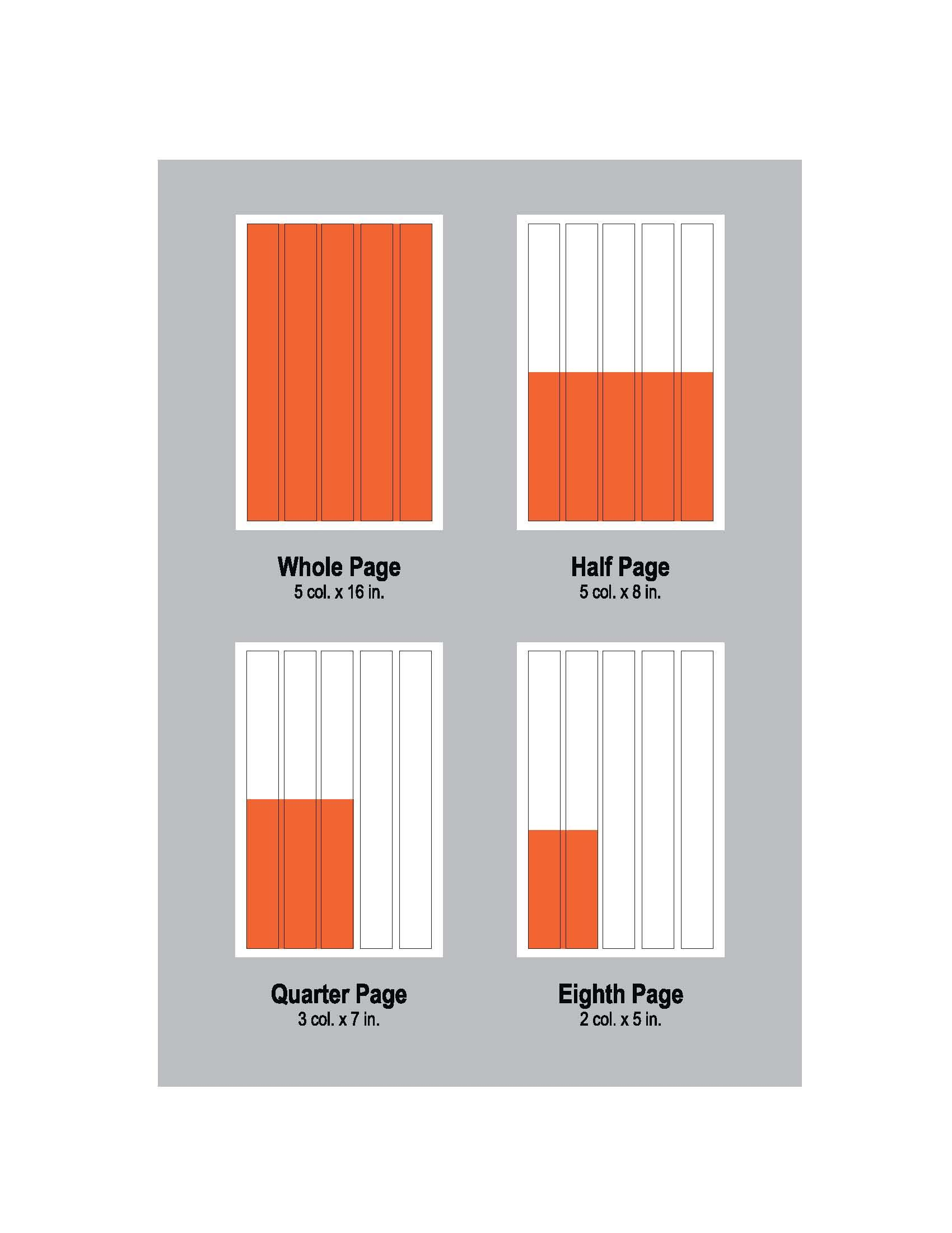 Typical Newspaper Ad Sizes Common Sizes