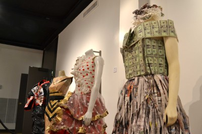 Students design outfits made from used materials