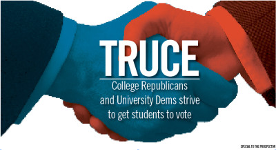 Truce: College Republicans and University Dems strive to get students to vote
