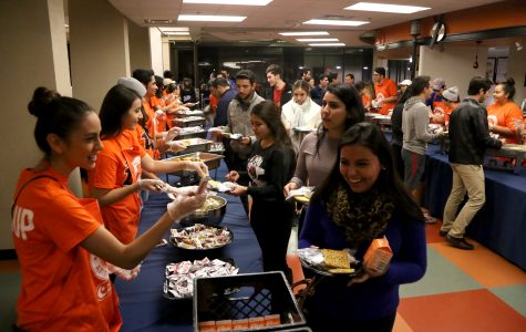 Students relax during finals week with Up All Night and Midnight Breakfast
