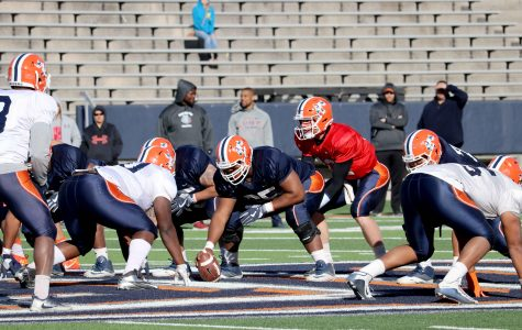 Miner football completes first scrimmage of spring