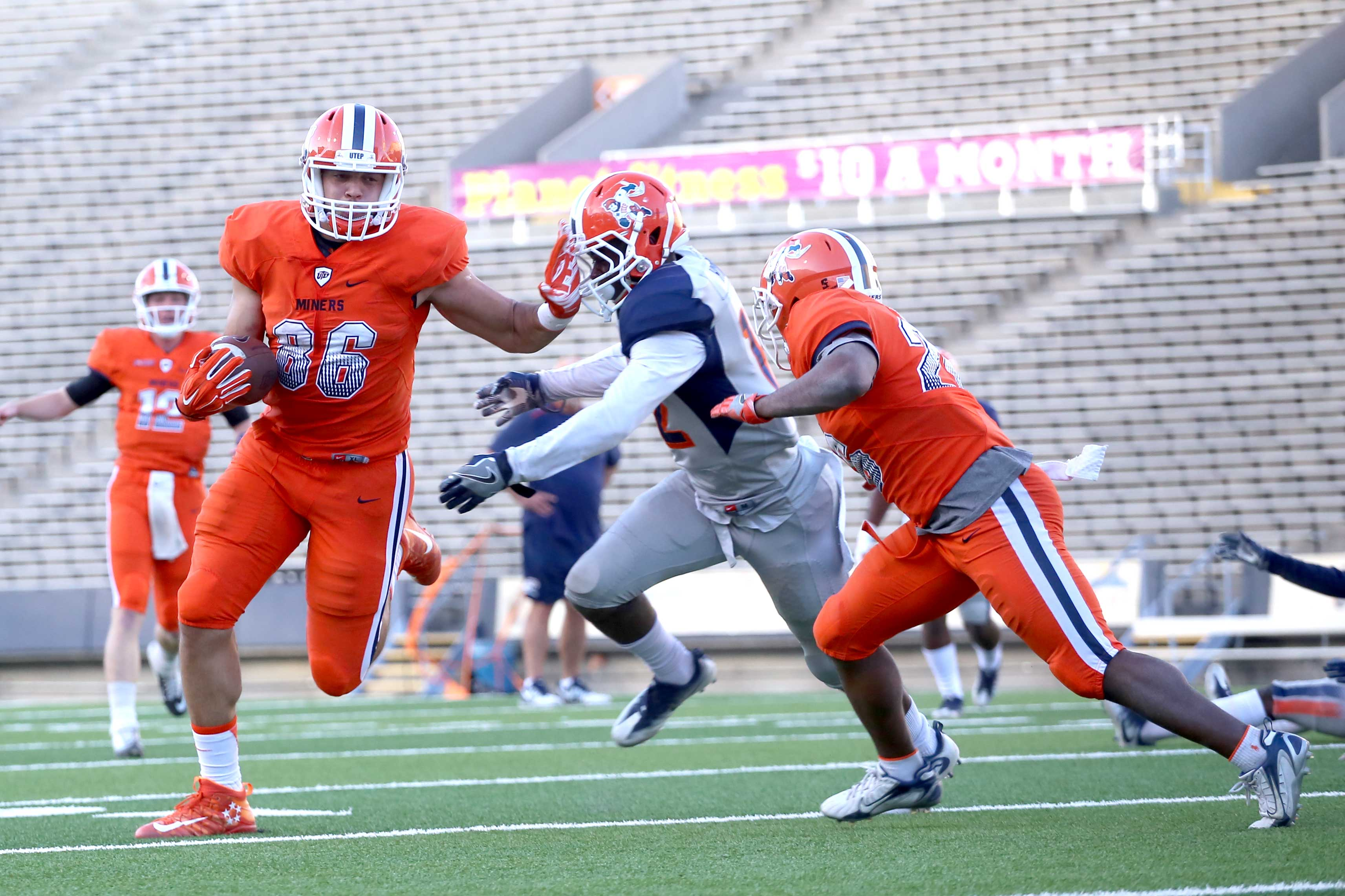 UTEP football held their spring game scrimmage on April 14 at the Sun Bowl.