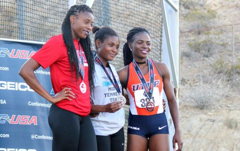 Women's track celebrates first C-USA conference title