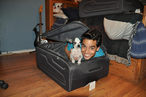 Someone fits in my suitcase