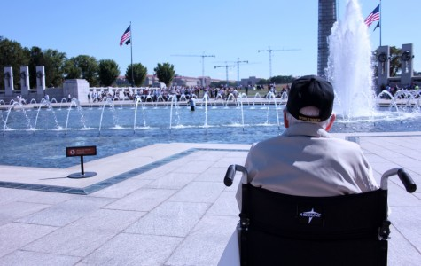 World War II veterans visit memorial to their service