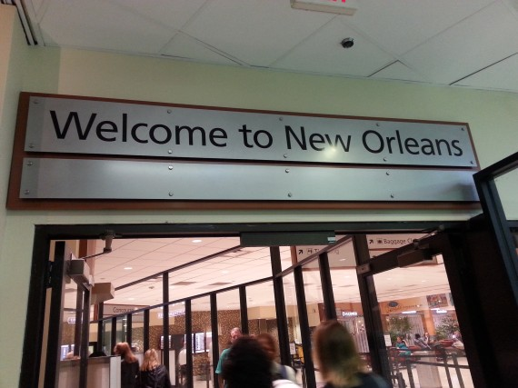 The Prospector staff arrives to New Orleans.