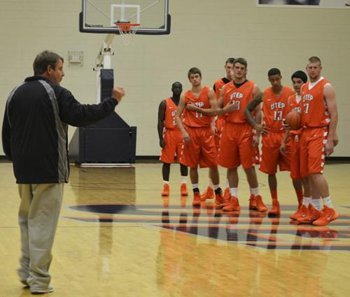 Head coach Tim Floyd and the Miners began practicing at the Foster and Stevens Basketball Center
