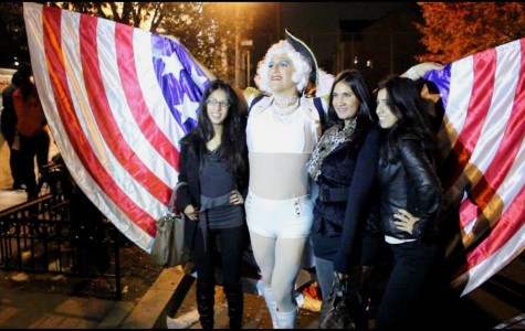Racers 'work it' for the 17th Street High Heel Race