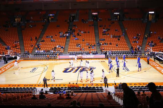 The+Don+Haskins+Center+got+a+make+over+and+a+new+floor+and+design+that+will+be+used+for+the+2013-14+season+and+the+2014+Conference+USA+Basketball+Championships+in+March.