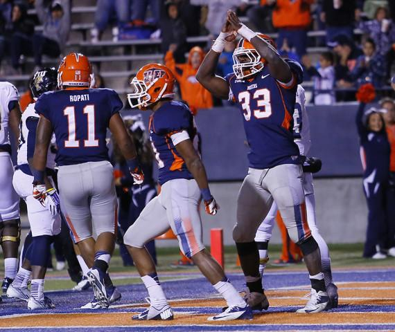 Senior+linebacker+Horace+Miller+%28right%29+celebrates+after+getting+a+safety+against+Florida+International+on+Nov.+16