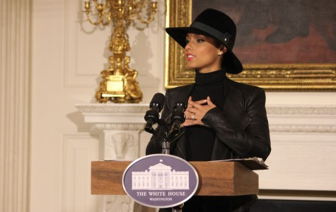 First lady, Alicia Keys screen movie at White House as part of education push
