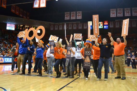 Centennial begins with kickoff celebration at basketball game
