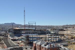 Current progress at downtown ballpark.