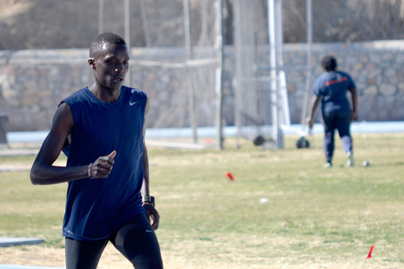 Junior distance runner Anthony Rotich set the 11th fastest time on the nation at Husky Classic