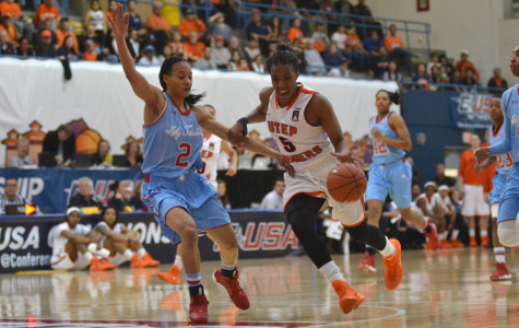 Senior Kayla Thornton becomes the all-time leading scorer in UTEP's history during the Conference USA Tournament.