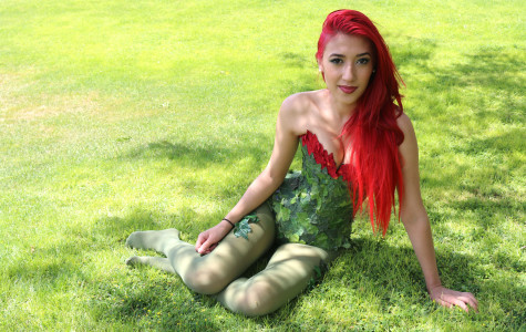 Christina Gonzalez designs costumes as a hobby that pertain to superheros or villan. Poison Ivy is one of her favorite costumes.