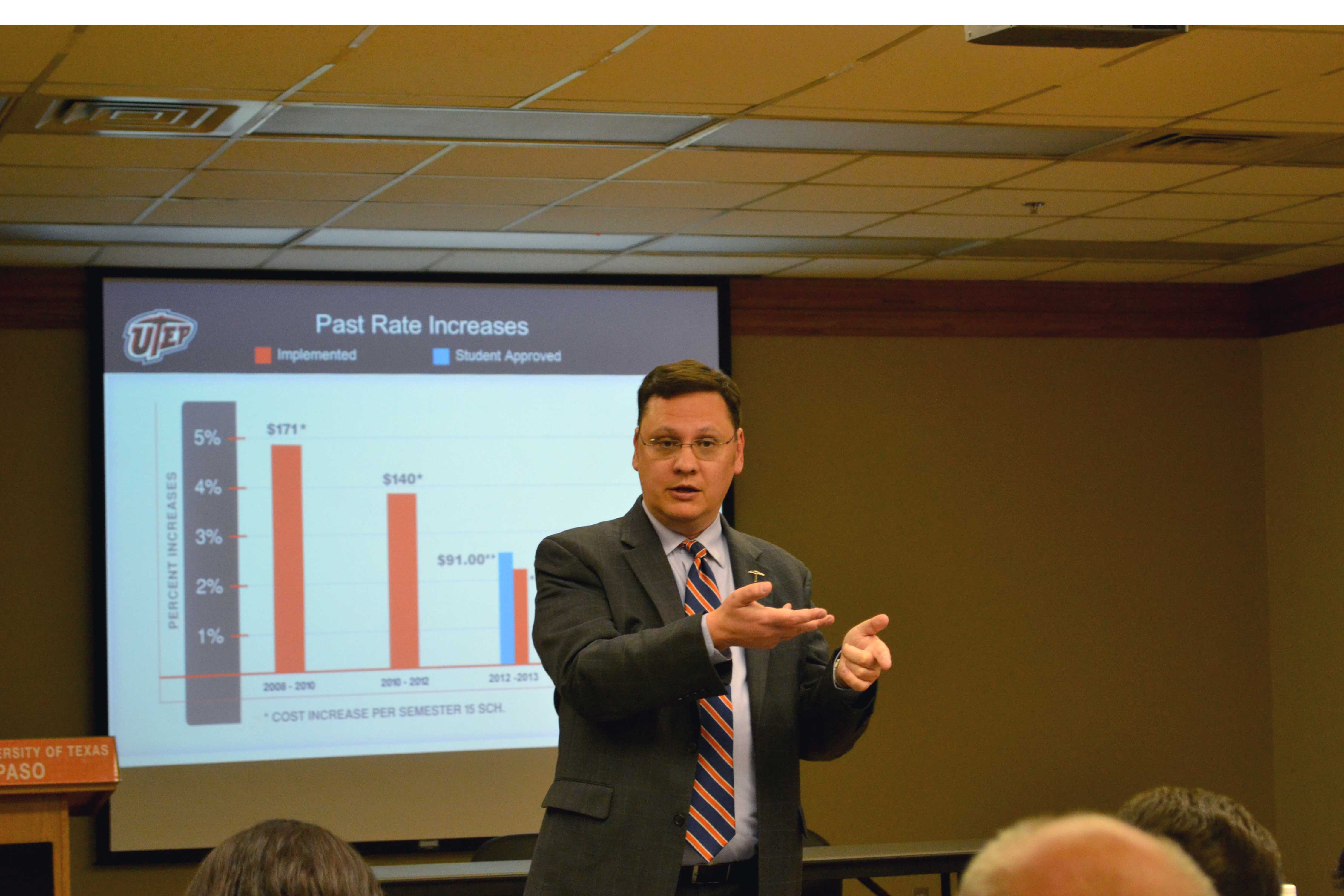Gary Edens proposes new tuition increases.