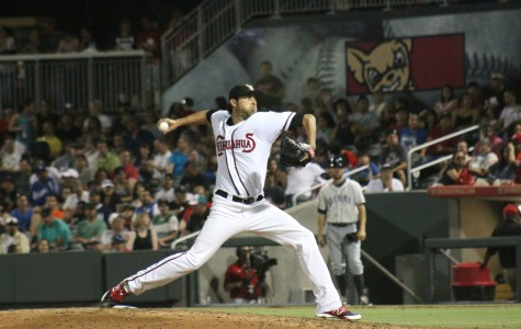 Relief pitcher Tim Sexton came on in relief to help close out the Rainiers.