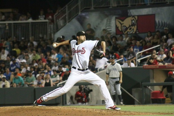 Relief+pitcher+Tim+Sexton+came+on+in+relief+to+help+close+out+the+Rainiers.