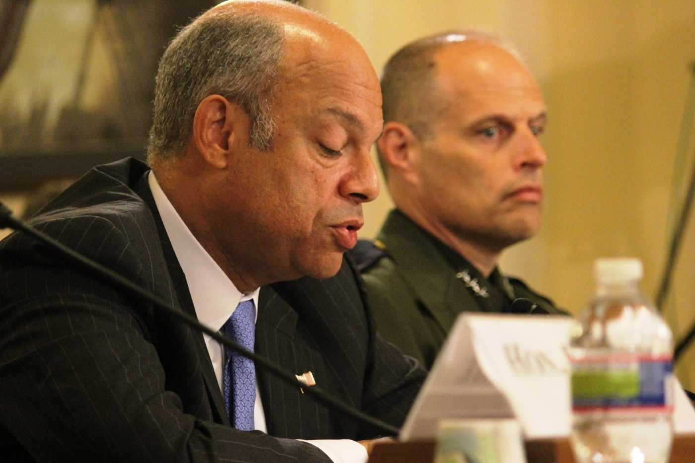 Jeh Johnson, secretary of Homeland Security, defends his department's actions against criticism that is has not done enough to stop the influx of children at the U.S.-Mexico border. He testified at a House committee hearing Tuesday.