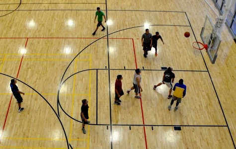 Basketball is one of the more popular sports at the rec center. The facility has two regulation sized basketball courts in all.
