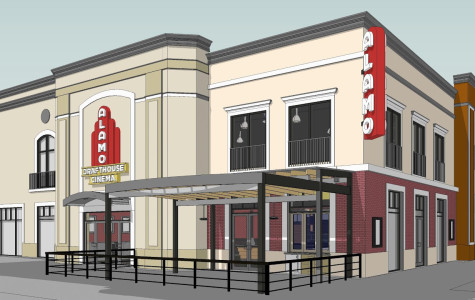 The Alamo Drafthouse will be equipped with Sony 4K Digital Cinema Projection, RealD 3D, a stand-alone bar with selected cocktails and 35 mm projection capabilities.