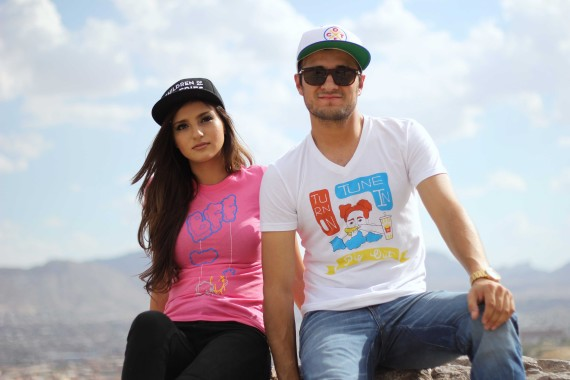 Children of the Fries is a clothing line whose brand focuses on bringing health awareness throughout the community. (Above) Illiana Curiel and Carlos Cardenas sport the line's clothing apparel.
