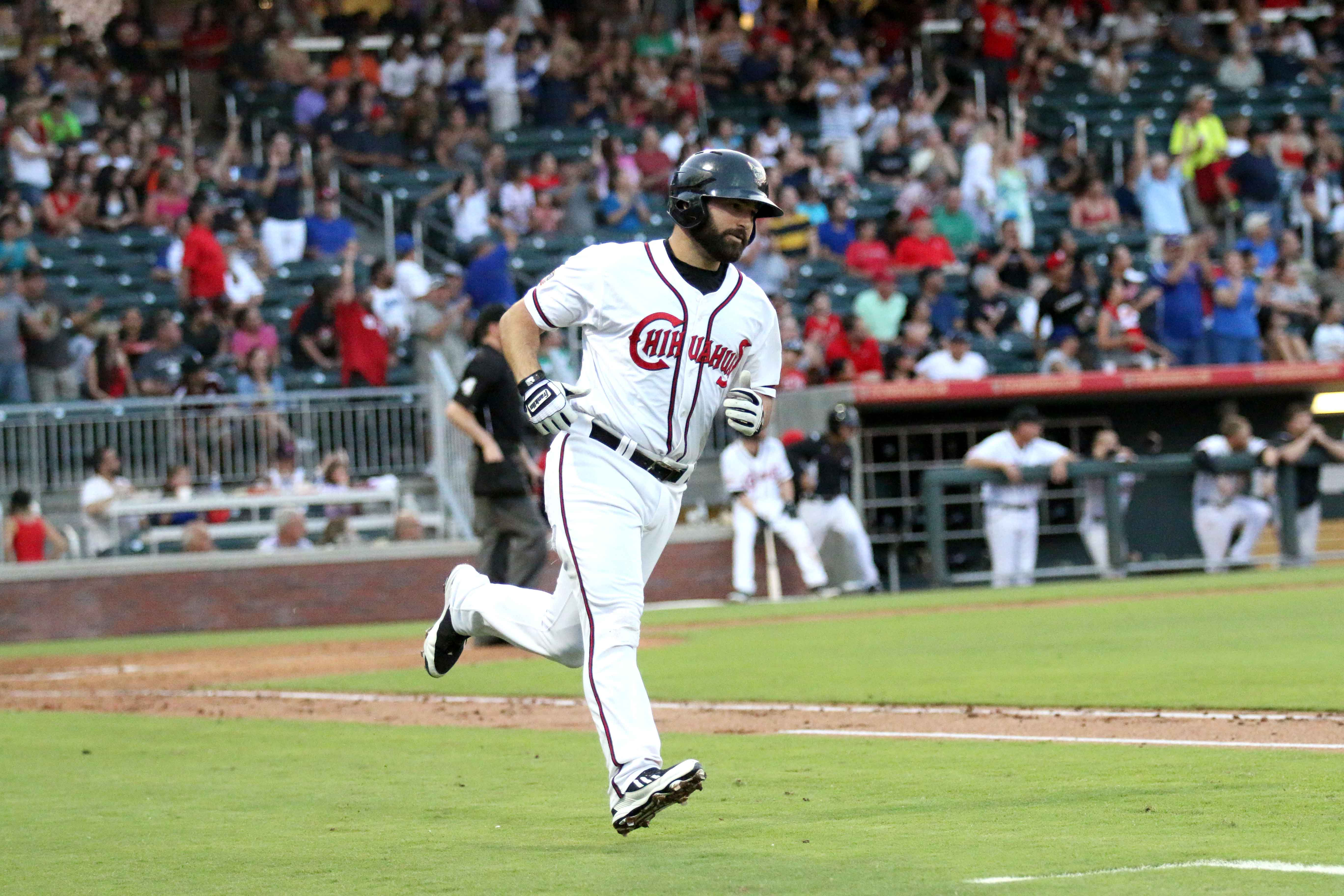 Cody Decker hits the first home run of the night.