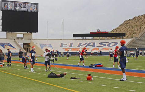 The Miners will have two practices in the Sun Bowl, before they leave to Alpine on Wednesday