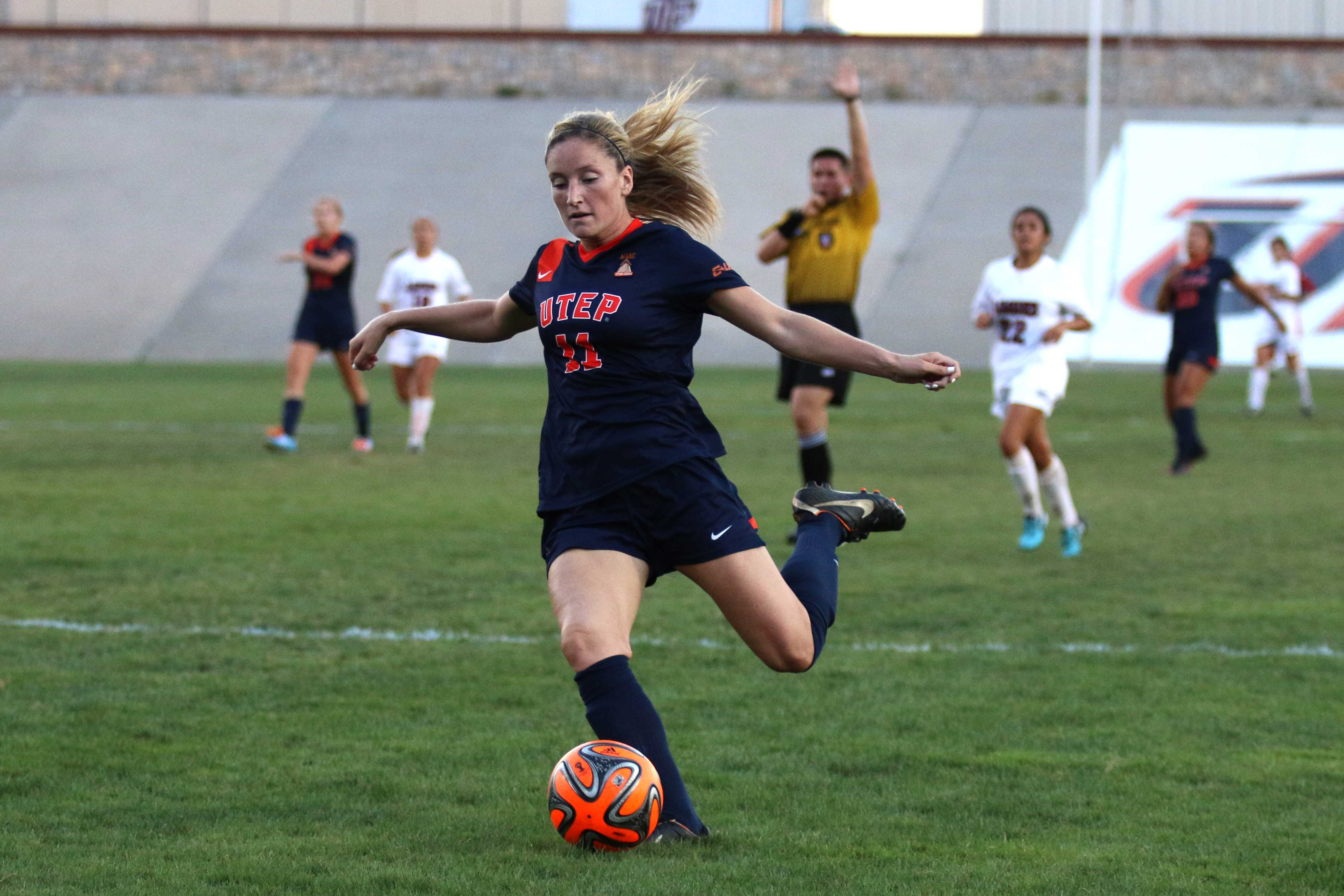 Midfielder Angela Cutaia is having a breakout season for the Miners in her junior year, leading the team in goals and points.