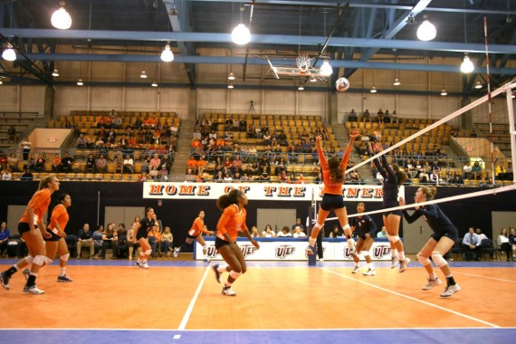 Miners fall in three straight sets to ninth ranked BYU