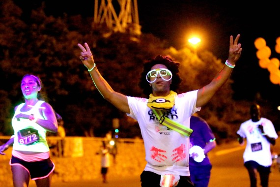 More than 2,000 participated in the Glory Road Glow Run.