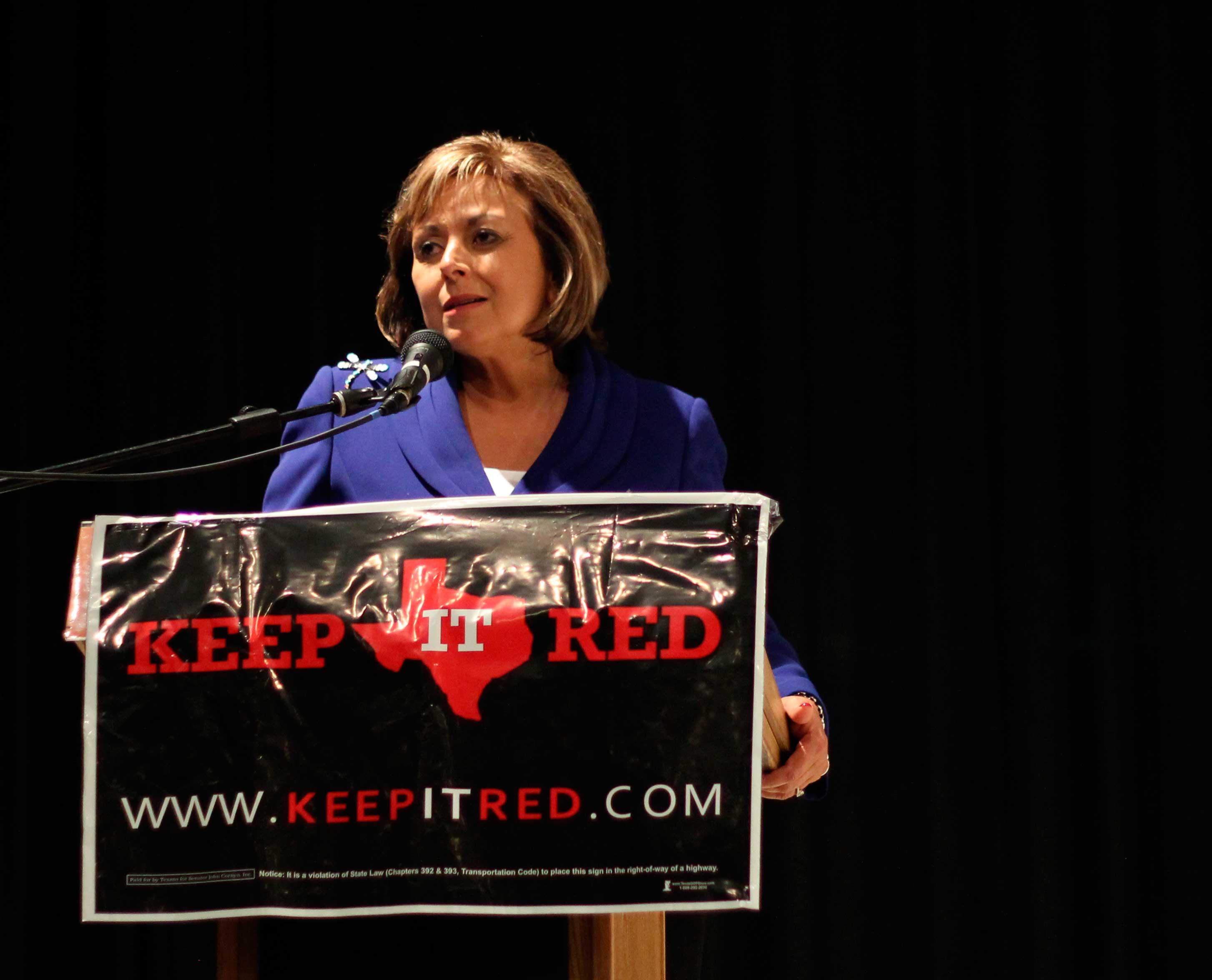 New Mexico Governor Susana Martinez speaks at UTEP Union Cinema to encourage political engagement.