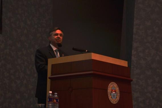 Mexico+Ambassador+to+the+U.S.%2C+Eduardo+Medina+Mora%2C+speaks+at+UGLC+Wednesday+afternoon.