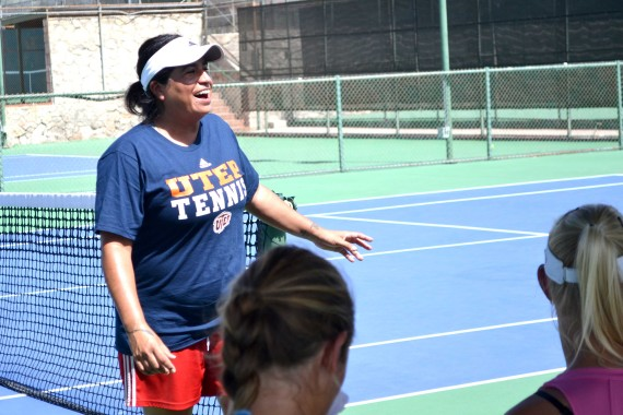 New head coach Cristina Moros is the third head coach in the last nine months for UTEP tennis.