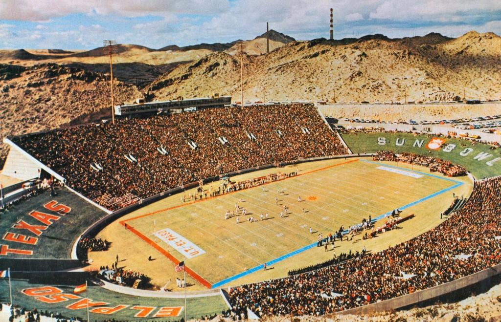 The first game at Sun Bowl Stadium, Sept. 21, 1963.