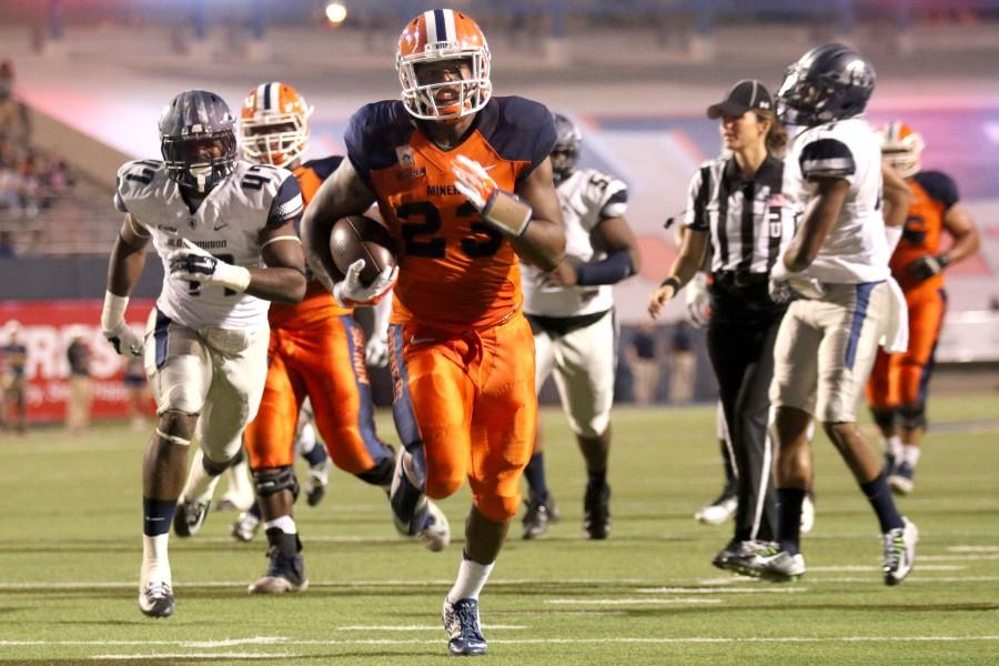 The Miners rush offense ranks third in Conference USA.
