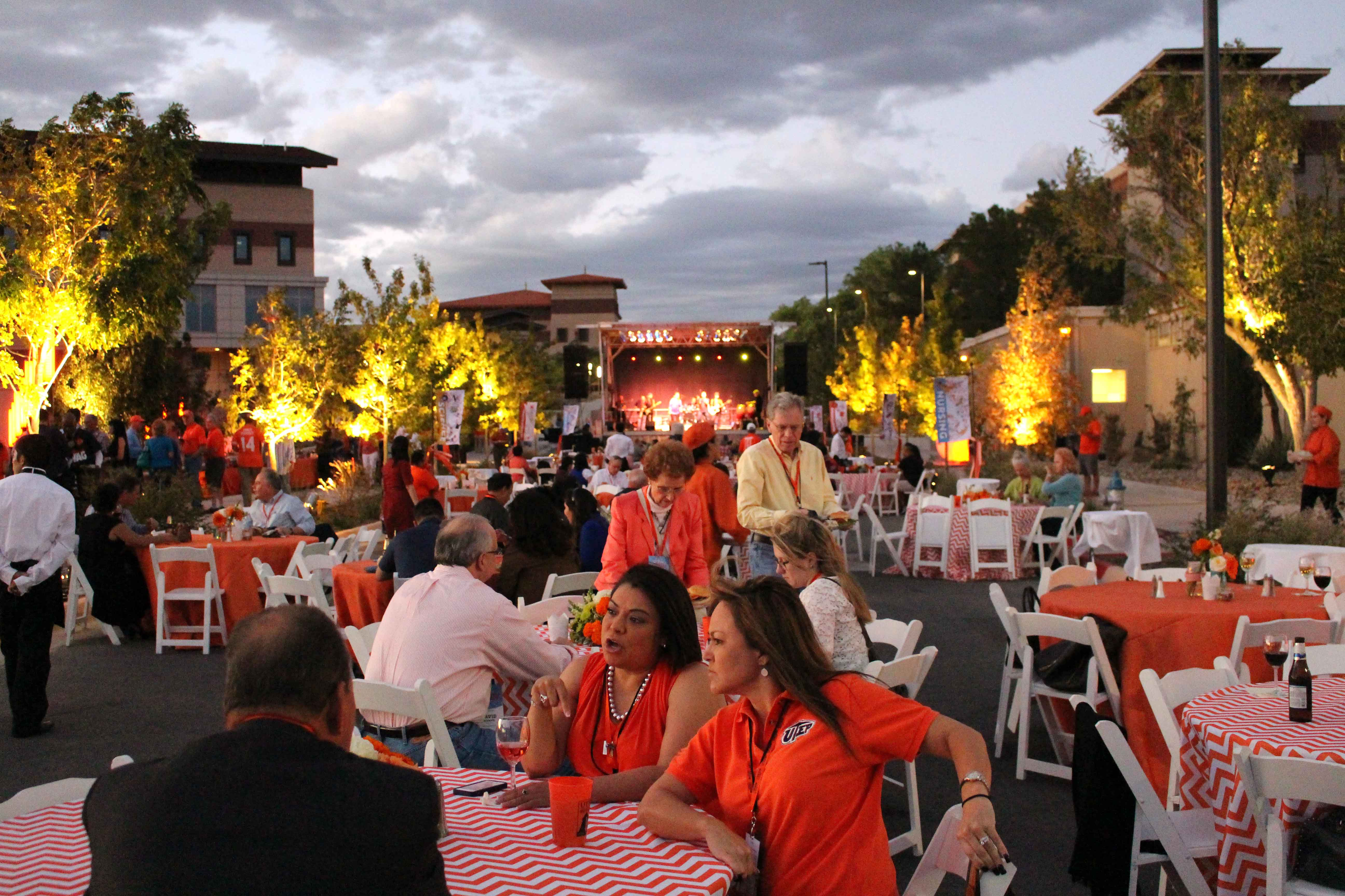 The block party was held on Wiggins Road on thursday, October 9.