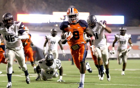 Junior running back Autrey Golden is UTEP's all-time leader in kick return touchdowns with six.