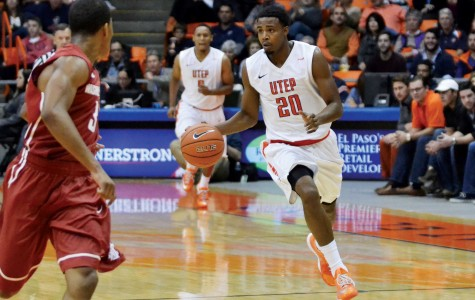 Junior guard Earvin Morris was one of five Miners that scored in double figures