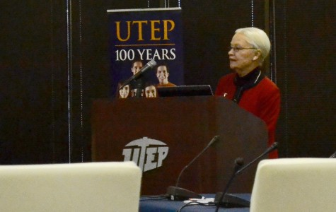 Dr. Diana Natilicio speaks at the UT Board of Regents committee meeting.
