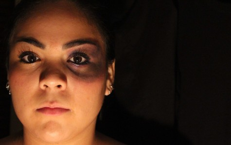 Girl poses as someone that has been effected by domestic violence.