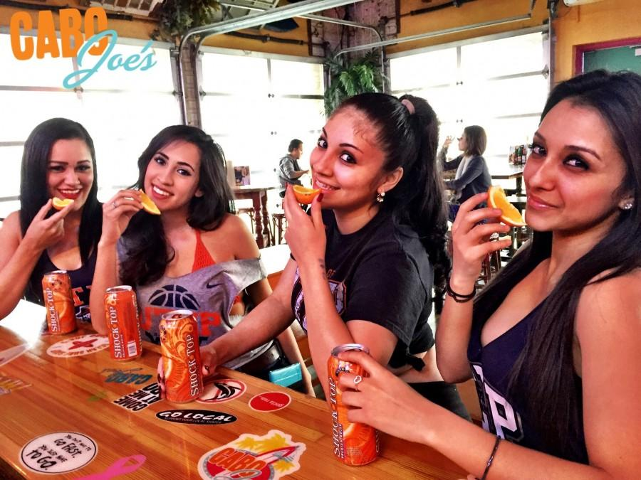 Three young girls enjoy their alchoholic beverages at the East side Cabo Joe's location.