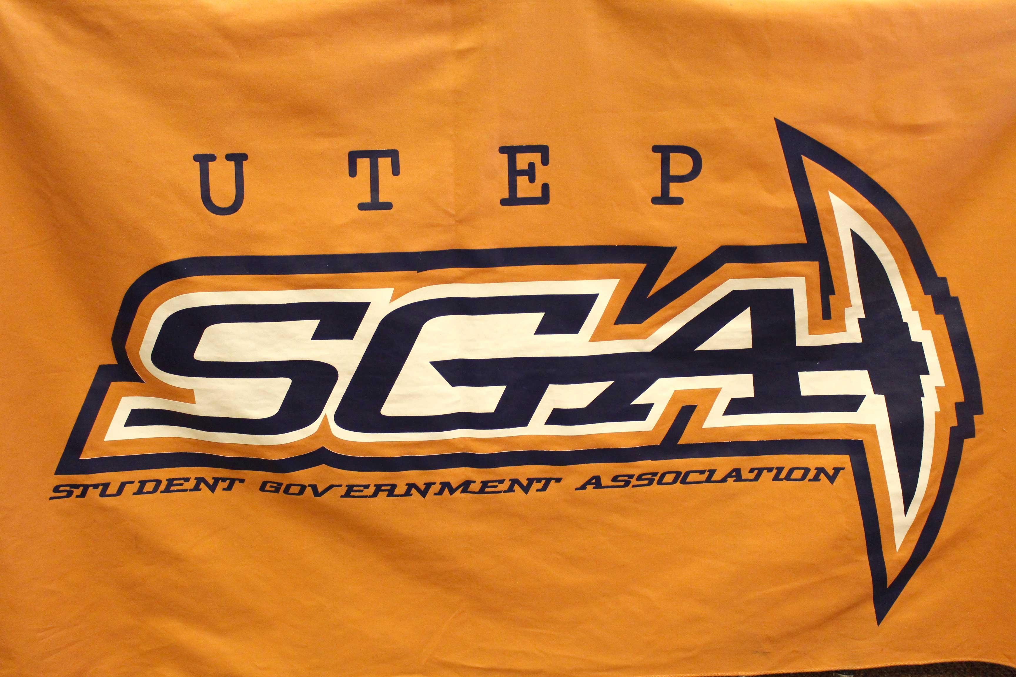 The UTEP SGA banner.