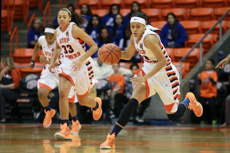 Junior guard Cameasha Turner leads the Miners in scoring, rebounding and steals.