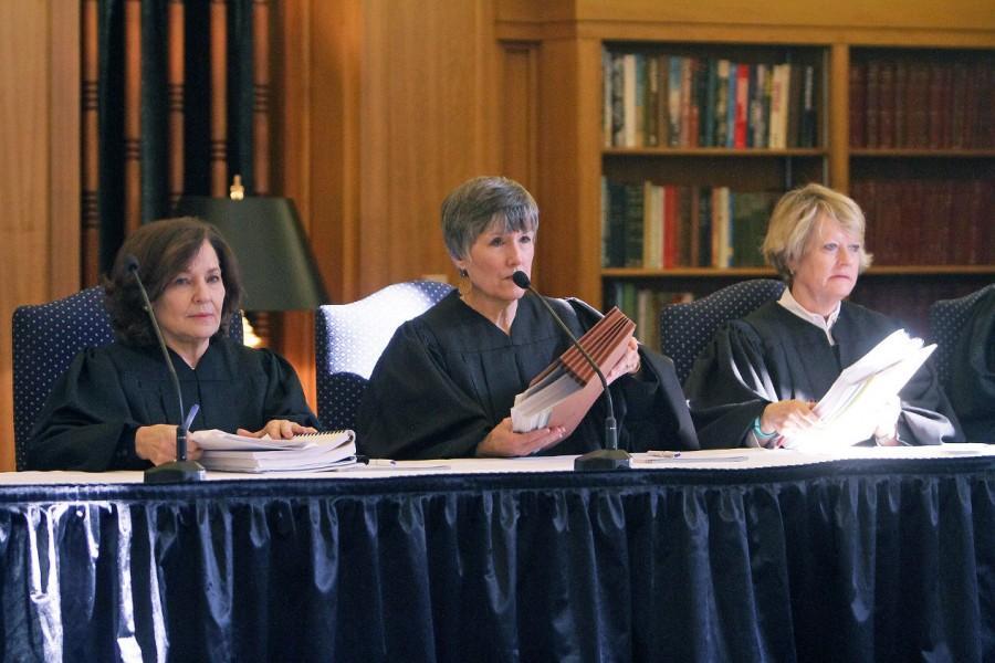 Presiding+Judge+Sharon+Keller+%28left%29%2C+Judge+Cheryl+Johnson+and+Judge+Barbara+Hervey+address+the+audience+and+begin+the+first+oral+argument+on+capital+murder.+