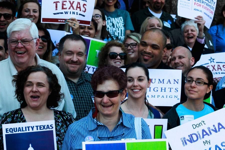Participants at Freedom Advocacy Day cheer.
