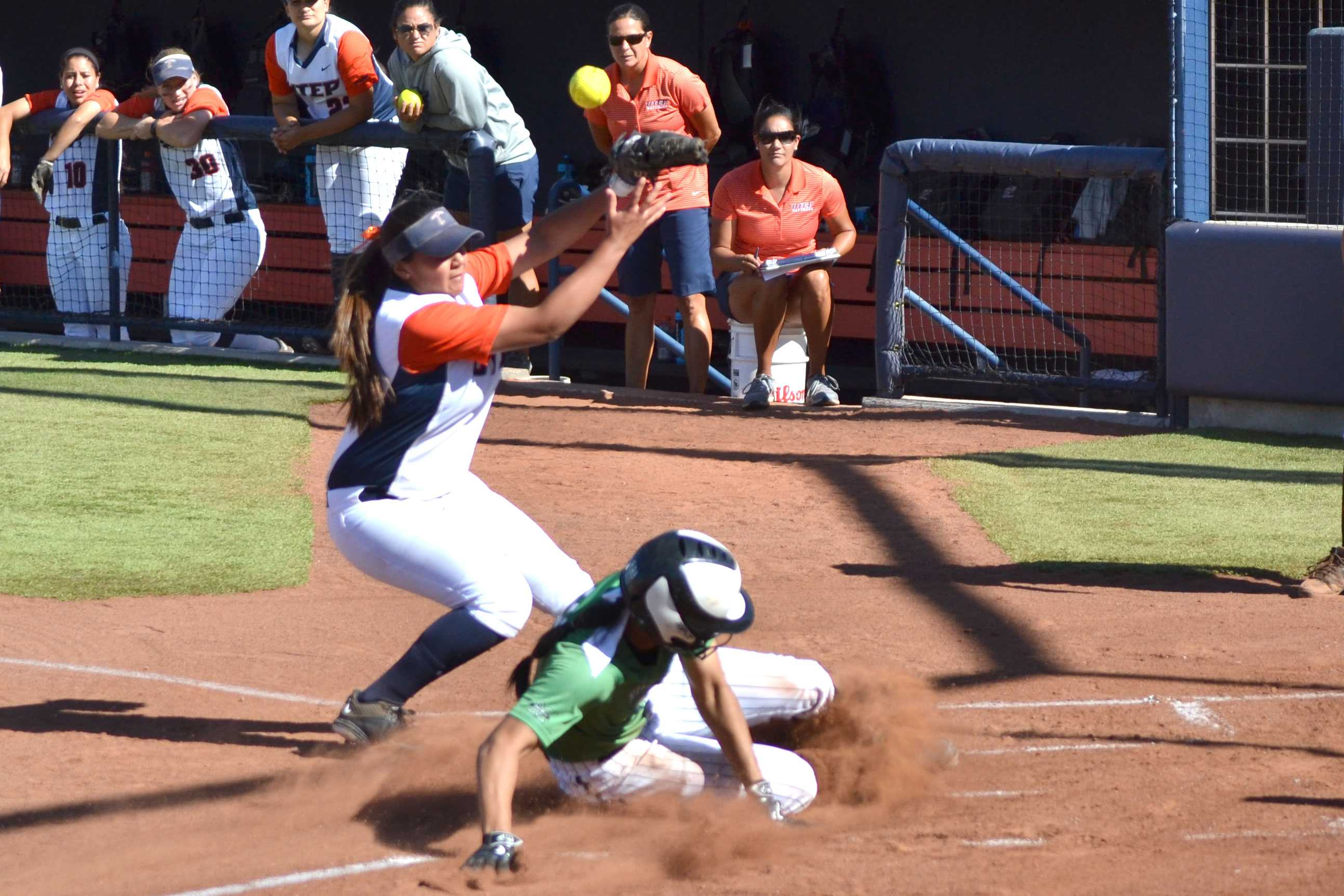 The UTEP softball team lost the final of three games against Marshall, even though the game was stopped early and the score was tied at seven.