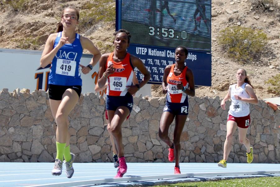 UTEP+track+and+field+had+13+athletes+with+first-place+collegiate+finishes+during+the+UTEP+Invitational.