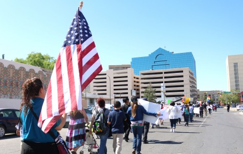 More than 300 El Pasoans marched on April 30 through downtown to protest anti-immigration bills.